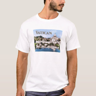 Vatican City Seen from Tiber River text VATICAN.pn T-Shirt