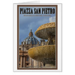 Vatican City - St Peters Square Fountain Cards