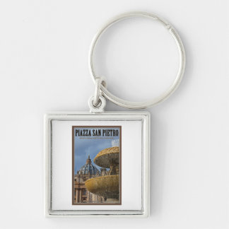 Vatican City - St Peters Square Fountain Keychain