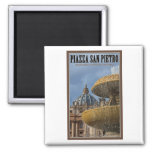Vatican City - St Peters Square Fountain Fridge Magnets