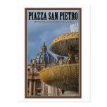 Vatican City - St Peters Square Fountain Post Card