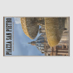 Vatican City - St Peters Square Fountain Rectangle Sticker
