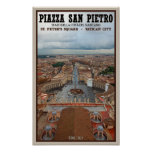 Vatican City - St Peters Square View Poster