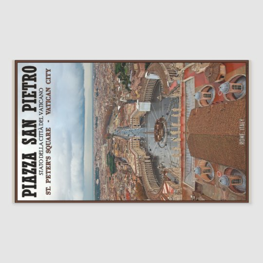 Vatican City - St Peters Square View Rectangular Sticker