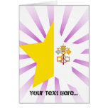 Vatican+City Star Greeting Card