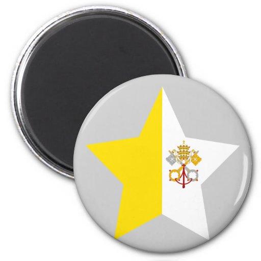 Vatican+City Star Refrigerator Magnet