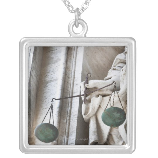 Vatican City statue Silver Plated Necklace