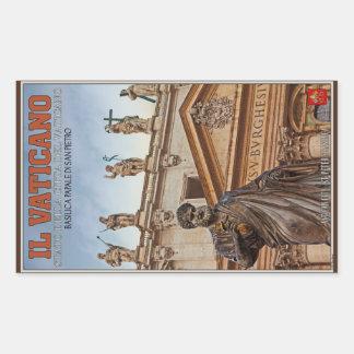 Vatican City Statues Rectangular Sticker