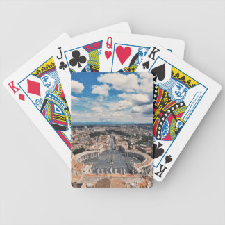 Vatican city top view bicycle playing cards