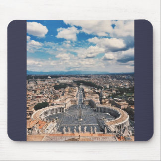 Vatican city top view mouse pad