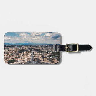 Vatican city top view tag for luggage