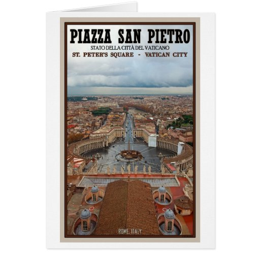 Vatican City - View from St Peter's Basilica Card