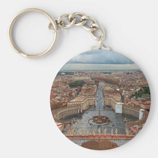 Vatican City - View from St Peter's Basilica Key Chain