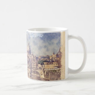 Vatican City Watercolor And Sketch White Mug