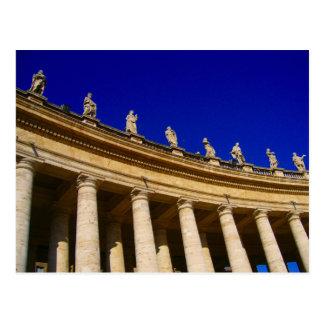 vatican columns postcard