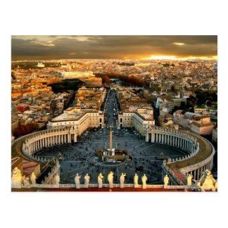 Vatican cuadrado de San Pedro Tarjetas Postales