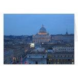 Vatican en la noche - tarjetas