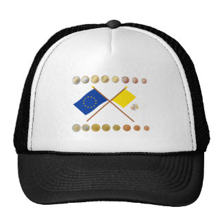 Vatican Euros and EU & Vatican Flags (Series 2) Mesh Hats