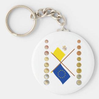 Vatican Euros and EU & Vatican Flags (Series 2) Keychain