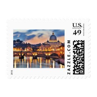 Vatican Evening Stamp