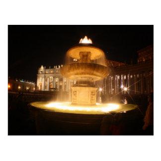 Vatican fountains, Bernini Postcard