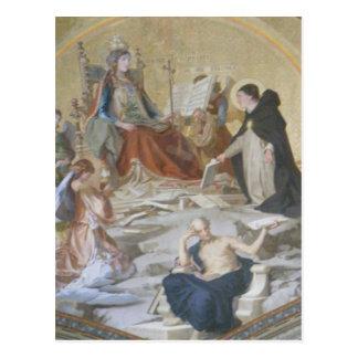Vatican Fresco Painting Postcard