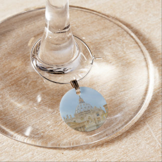 Vatican in Rome Italy Wine Glass Charm