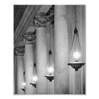 Vatican Lanterns Photographic Print