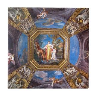 Vatican museum ceiling  fresco tile