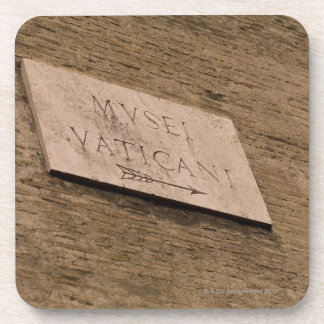 Vatican Museums sign, Rome, Italy Drink Coasters