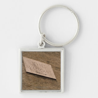 Vatican Museums sign, Rome, Italy Silver-Colored Square Keychain