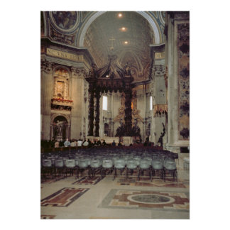 Vatican, Pope in the gallery of St Peter's Poster