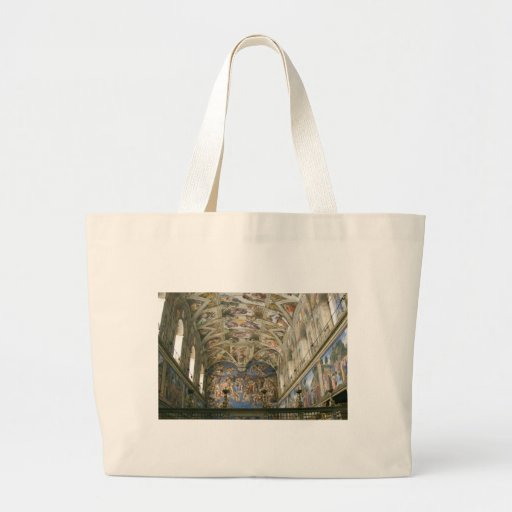 Vatican Sistine Chapel Large Tote Bag