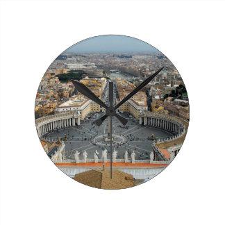 Vatican Square Round Clock