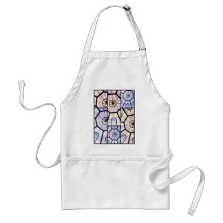 Vatican stained glass adult apron