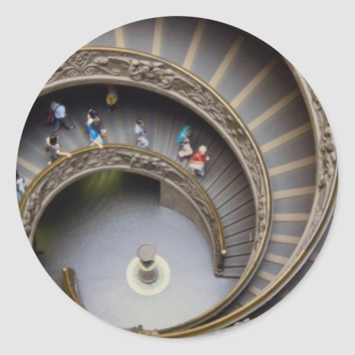 Vatican, stairway to heaven, Rome, Italy Round Stickers