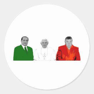 Vatican State Mafia Round Stickers