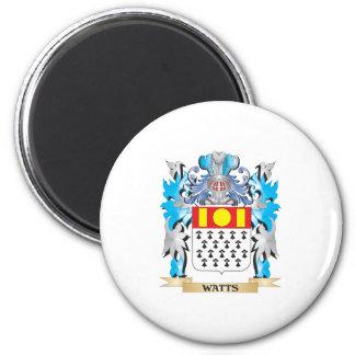 Vatios de escudo de armas - escudo de la familia imán redondo 5 cm
