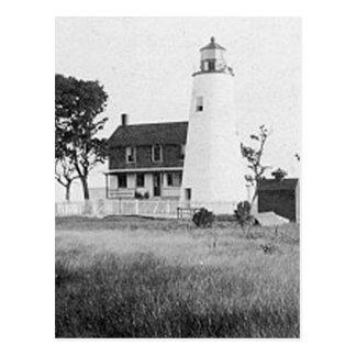Vatios de faro de la isla tarjeta postal