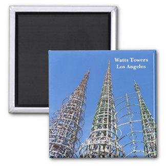 ¡Vatios de torres/imán de Los Ángeles! Imán Cuadrado