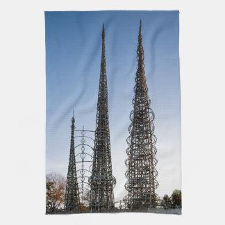 Vatios de torres Los Ángeles Toalla De Cocina