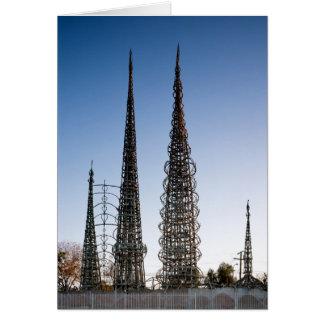 Vatios de torres Los Ángeles Tarjeta De Felicitación