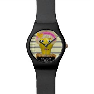 Vatios mega de reloj del Mugshot
