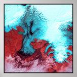 Vatnajokull Glacier Ice Cap Iceland Poster