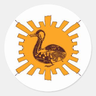 Vaucanson's Duck Classic Round Sticker