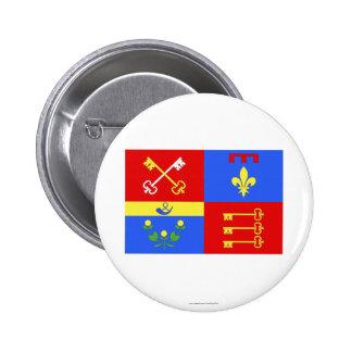 Vaucluse flag pinback buttons