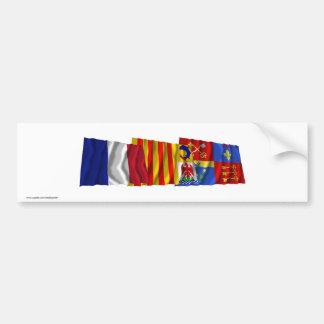 Vaucluse, Provence-Alpes-Côte-d'Azur & France flag Bumper Sticker