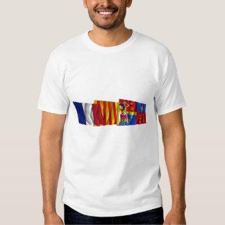 Vaucluse, Provence-Alpes-Côte-d'Azur & France flag Tee Shirt