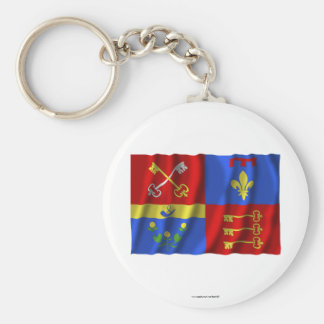 Vaucluse waving flag key chains