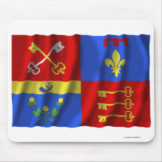 Vaucluse waving flag mouse pad